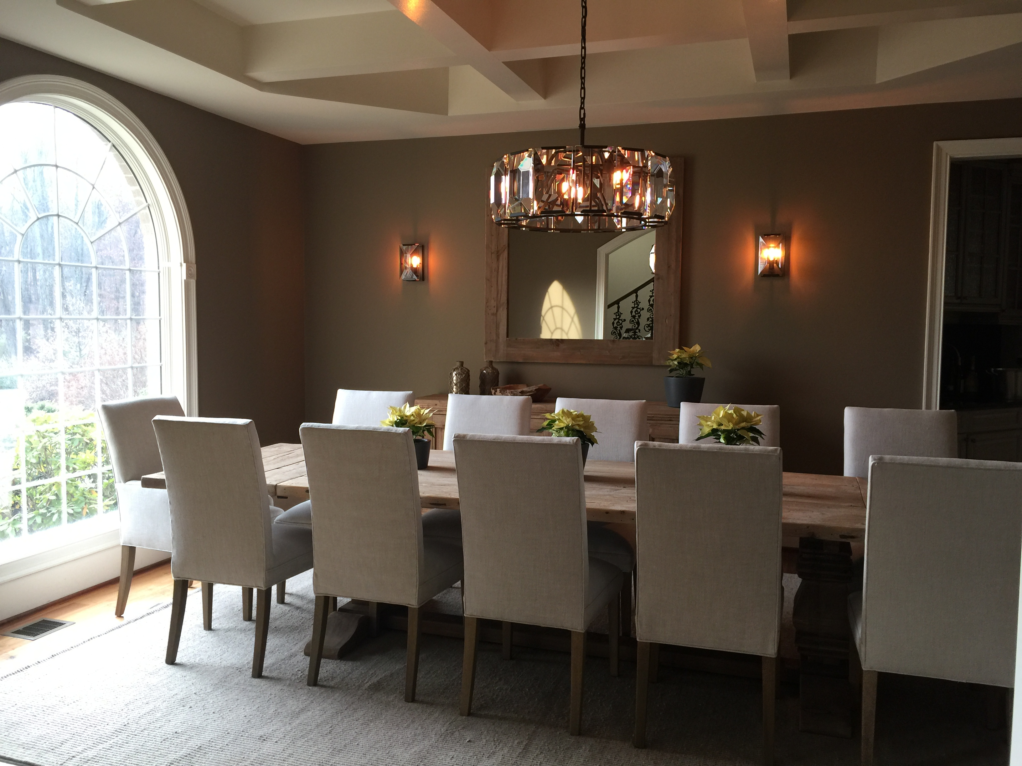 Modern French Country Style Dining Room Remodel