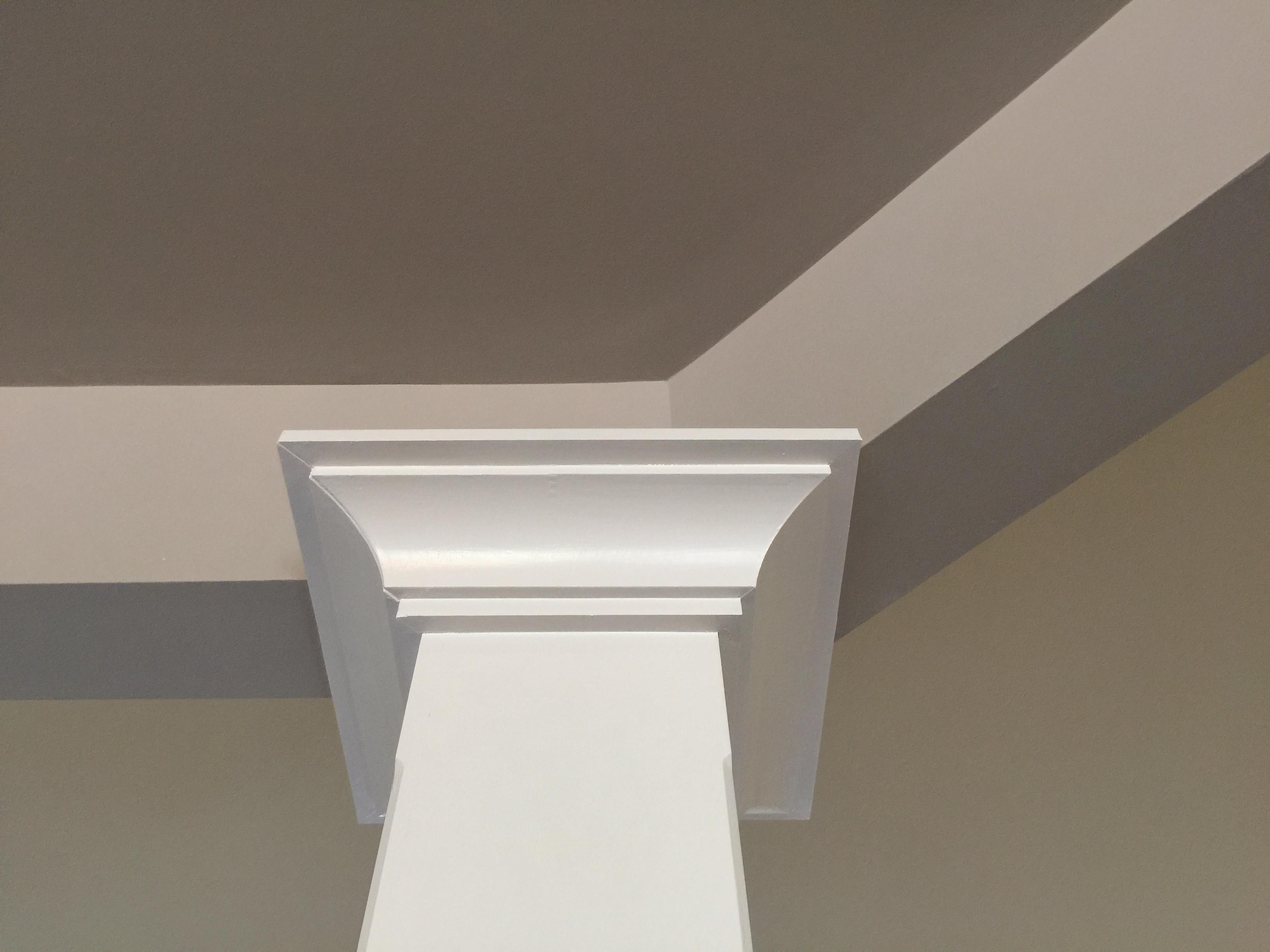 Building Interior Wood Square Pillars Happy Haute Home