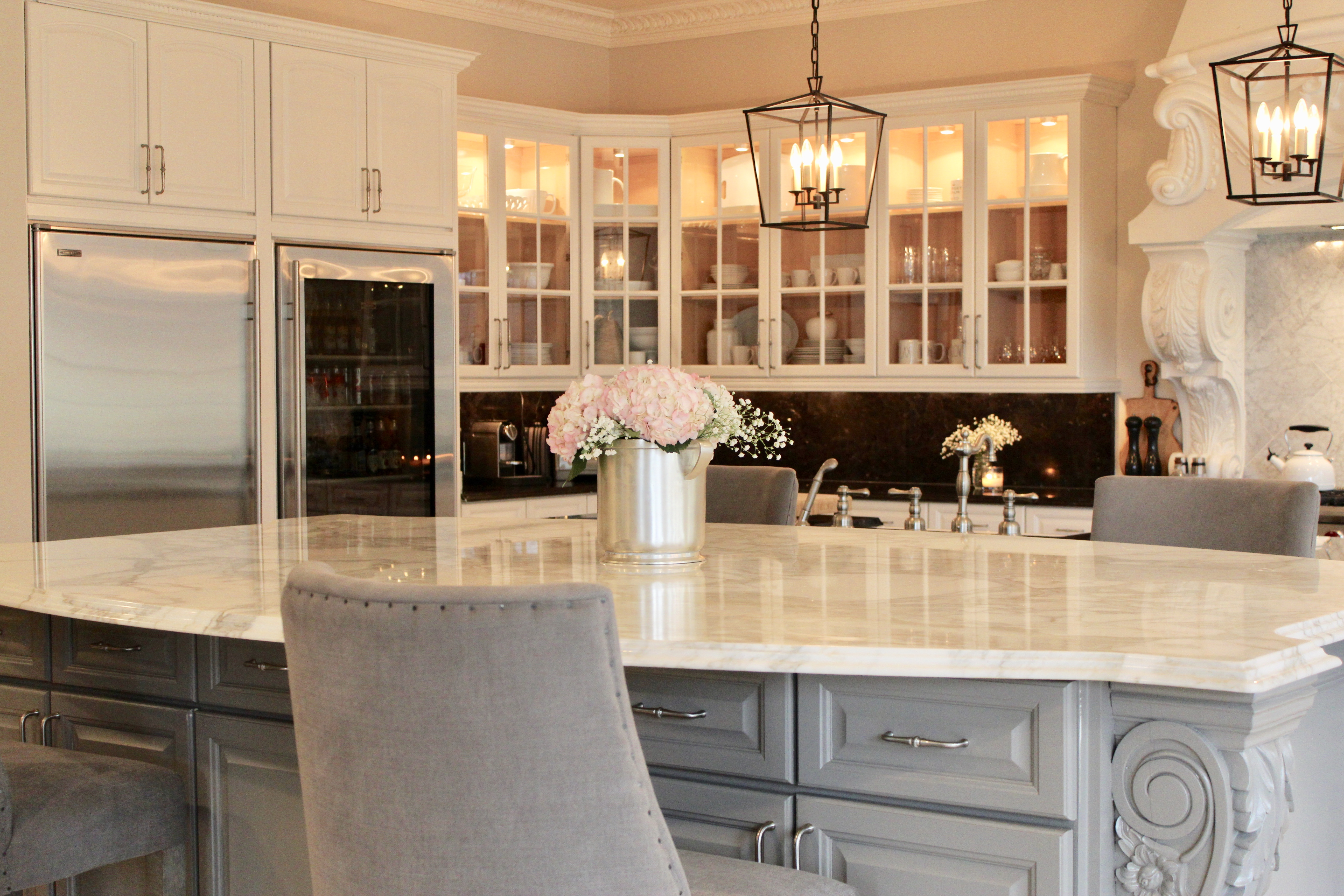 Update On Our Modern French Country Kitchen Remodel One Room Challenge Happy Haute Home
