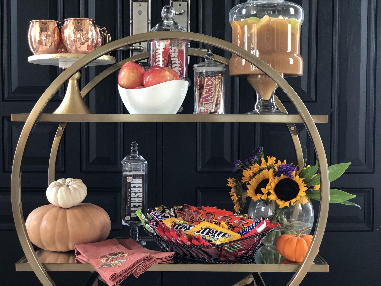Fall Bar Cart Ideas Archives Happy Haute Home